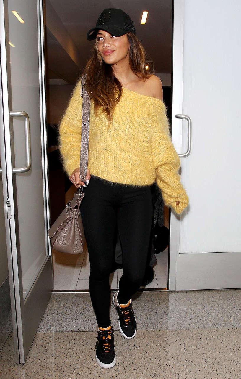 Nicole Scherzinger Arrives Lax Airport