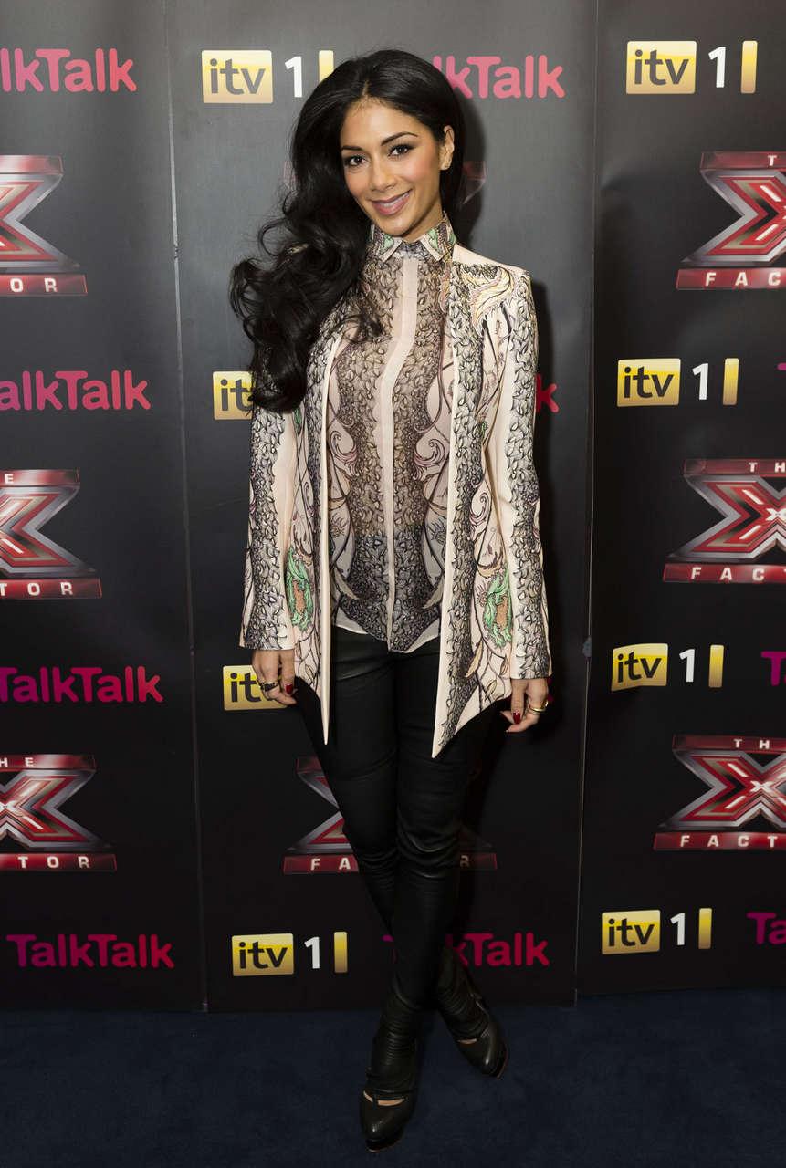 Nicole Scherzinger X Factor Finalists Judges Press Conference Manchester