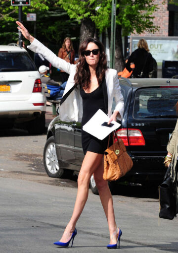 Nicole Trunfio Leggy Candids Out About New York