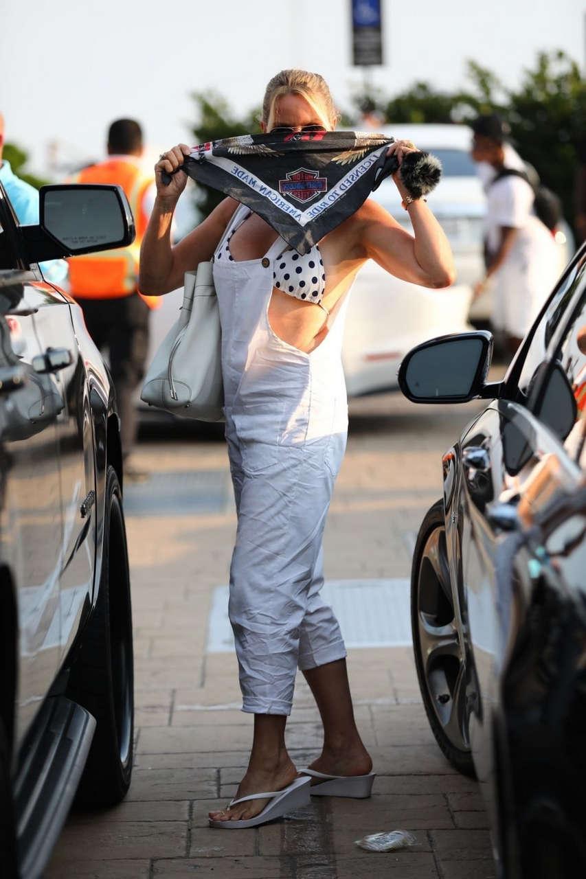 Nicolette Sheridan Arrives Nobu Malibu