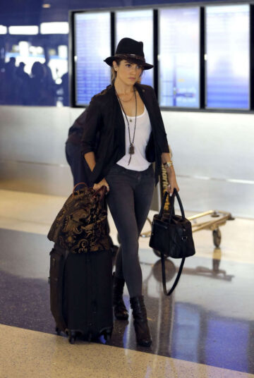 Nikki Reed Arrives Los Angeles International Airport