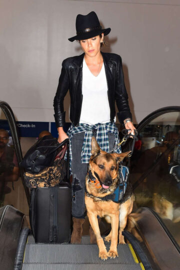 Nikki Reed Her Dog Lax Airport