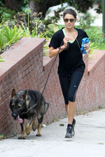 Nikki Reed Out Jogging Los Angeles