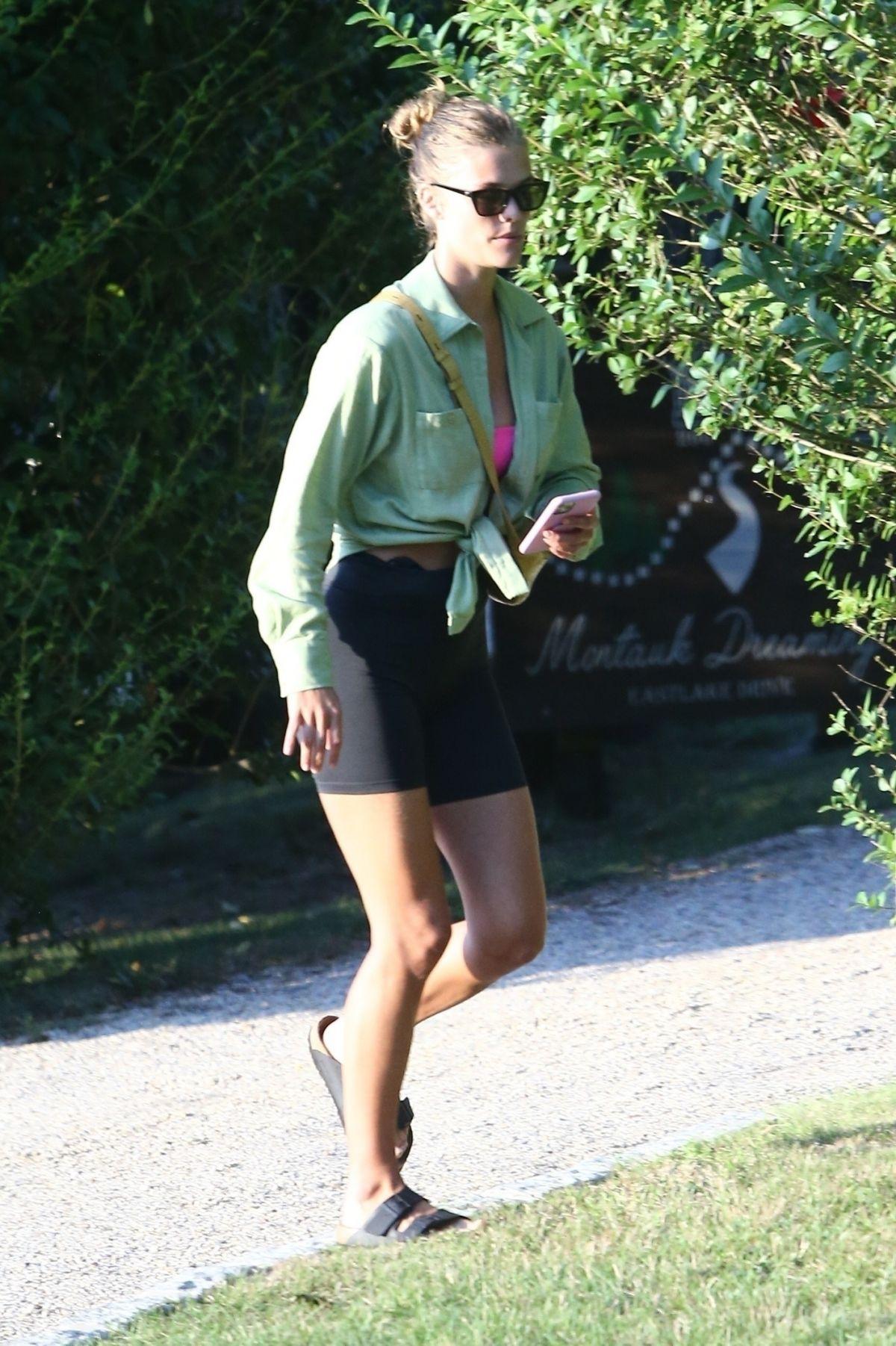 Nina Agdal Leaves Friends House Hamptons