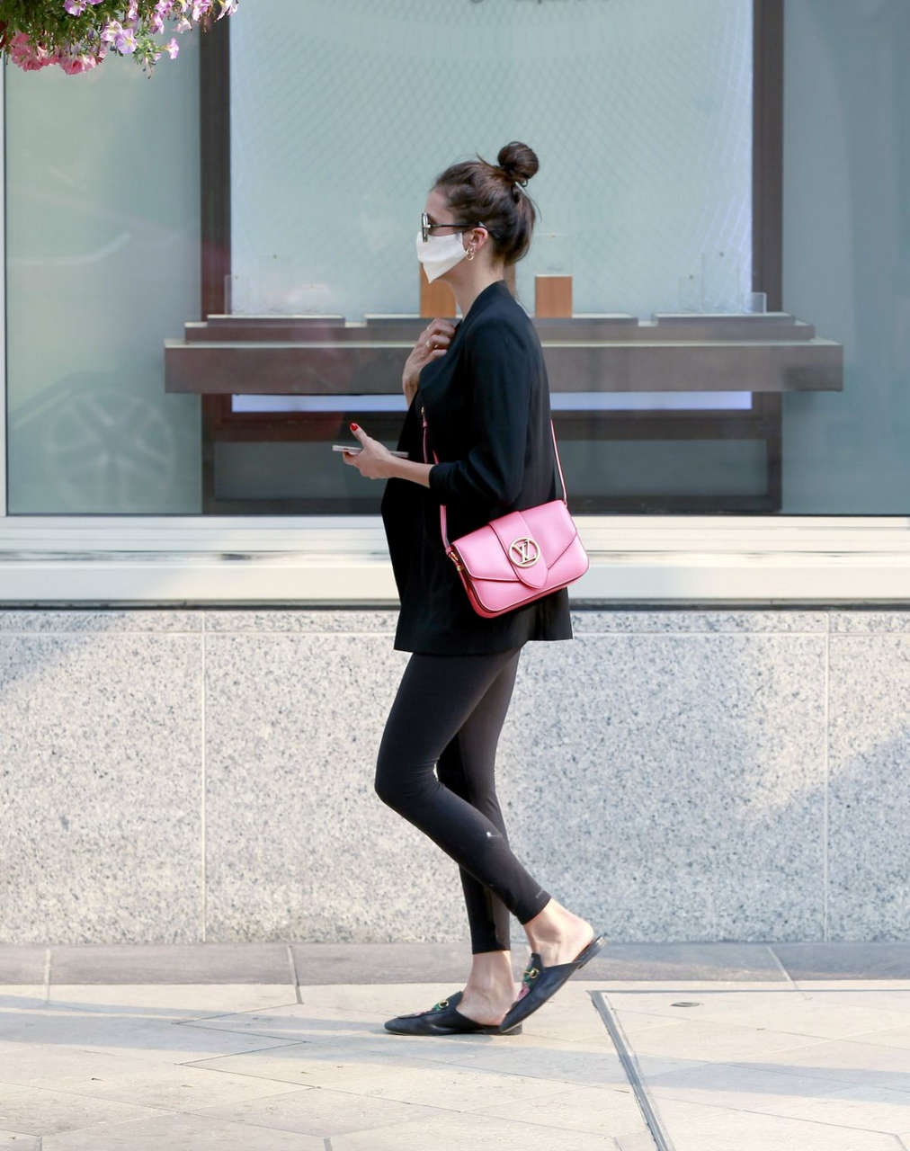Nina Dobrev Louis Vuitton Store Beverly Hills