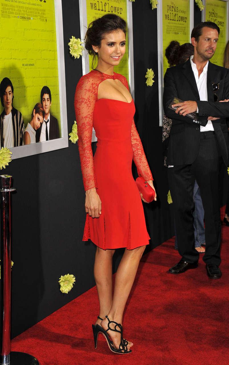 Nina Dobrev Perks Being Wallflower Premire Los Angeles