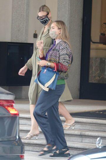 Nina Suess Out Milan Fashion Week