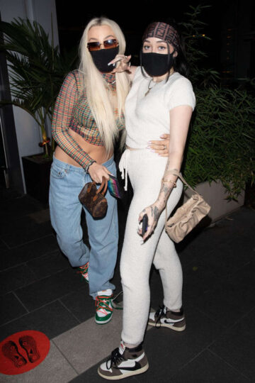 Noah Cyrus Tana Mongeau Out For Dinner Boa West Hollywood