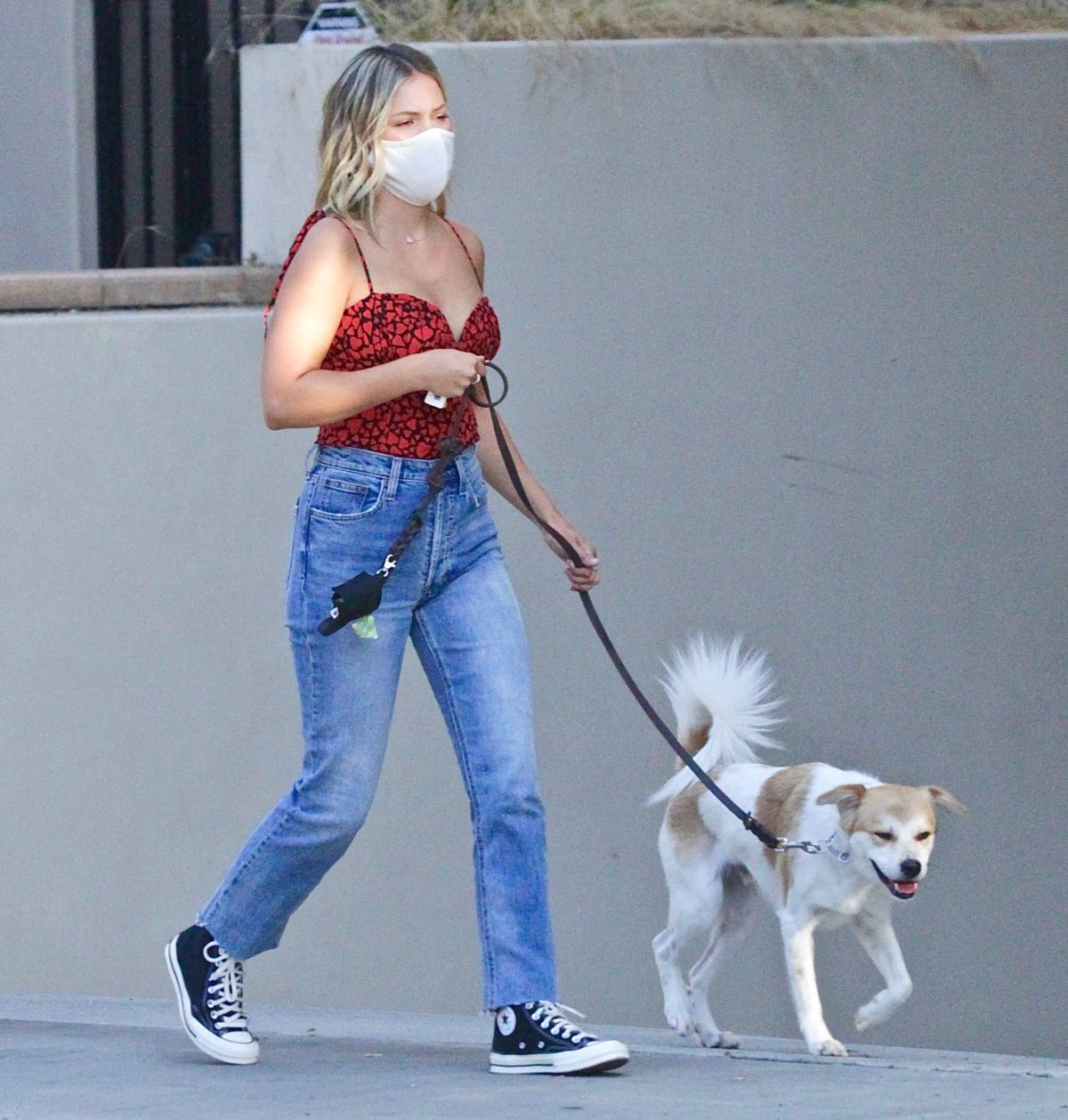 Olivia Holt Out With Her Dog Studio City