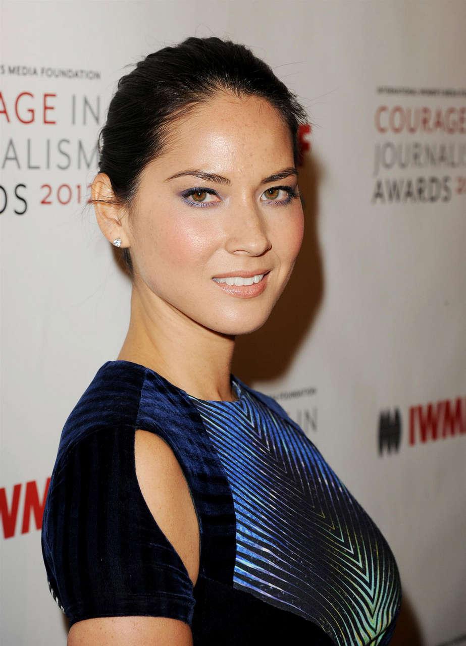 Olivia Munn 2012 Courage Journalism Awards Beverly Hills