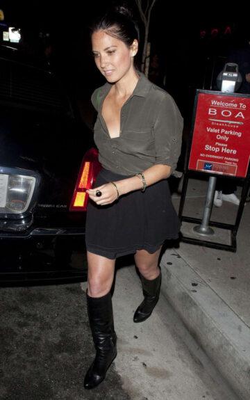 Olivia Munn Leaving Boa Steakhouse Los Angeles
