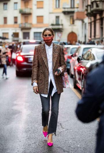 Olivia Palermo Arrives Etro Show Milan Fashion Week