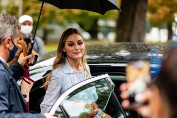 Olivia Palermo Arrives Sportmax Show Milan Women S Fashion Week