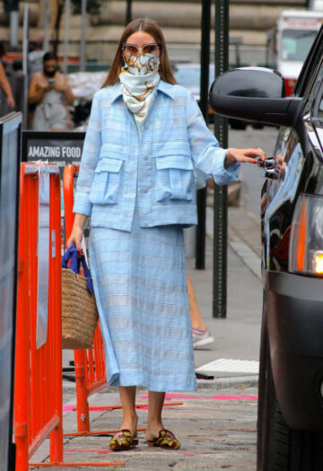 Olivia Palermo Leaves Business Meeting New York