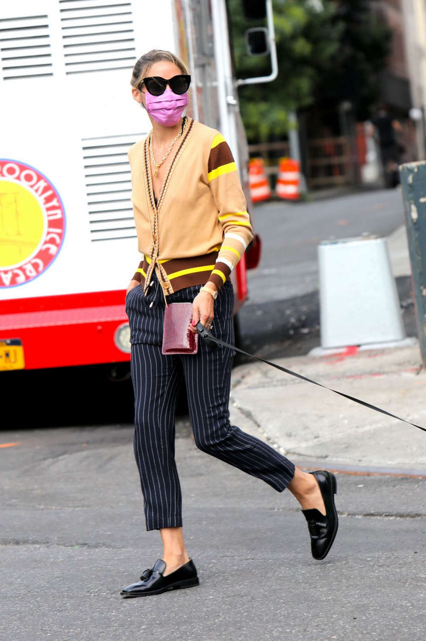Olivia Palermo Out With Her Dog New York