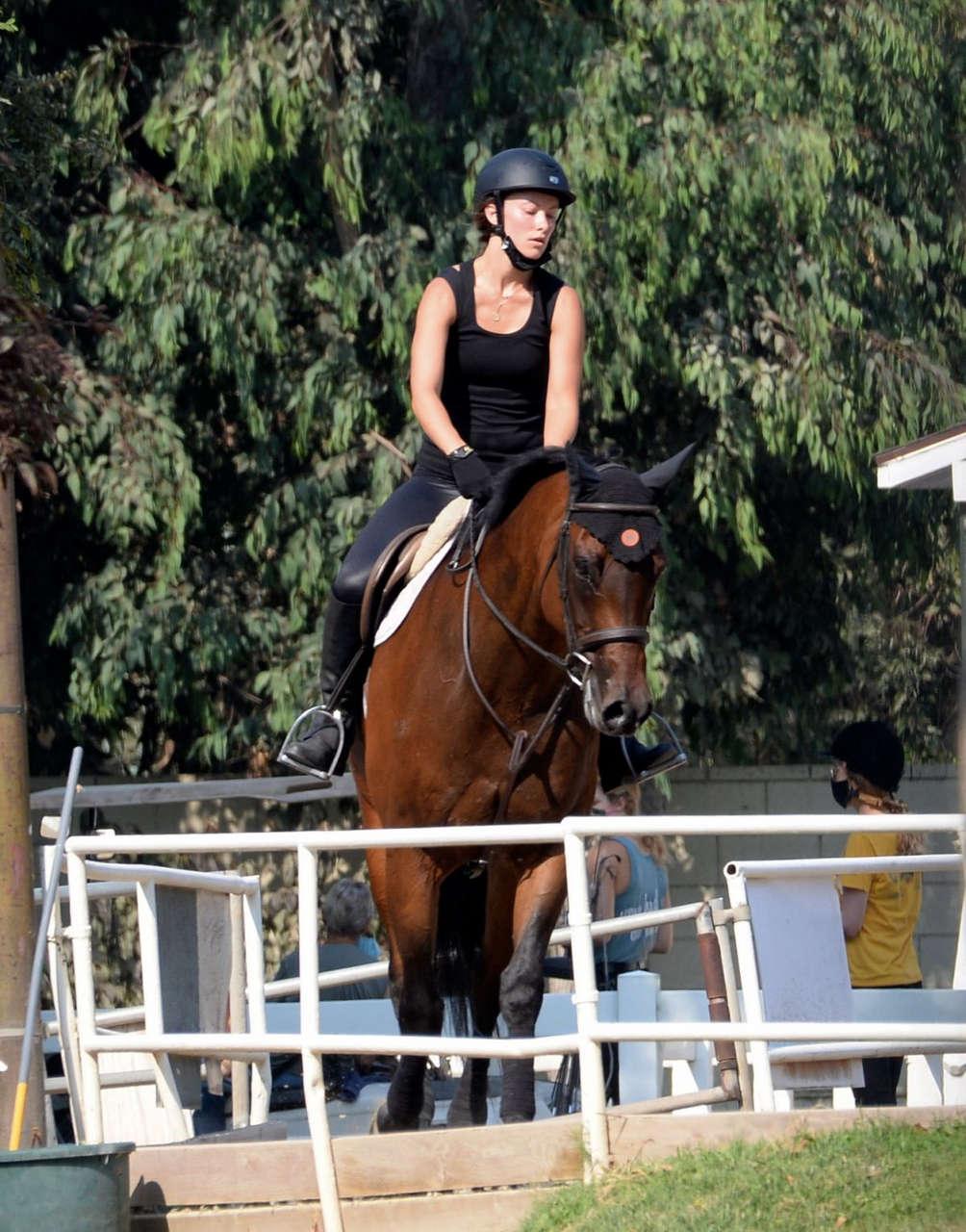 Olivia Wilde Horseback Riding Thousand Oaks