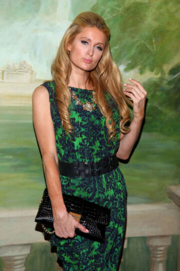 Paris Hilton Alice Olivia By Stacey Bendet Fashion Show New York