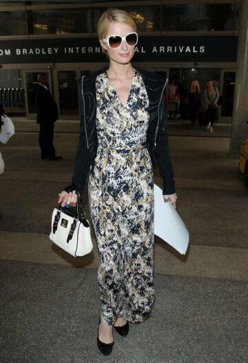 Paris Hilton Arrivess Los Angeles International Airport