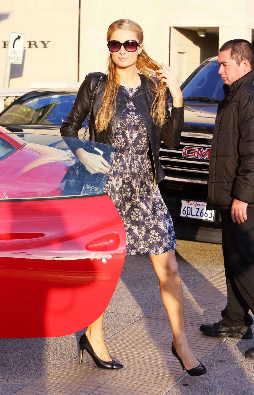 Paris Hilton Shopping Barneys New York Beverly Hills