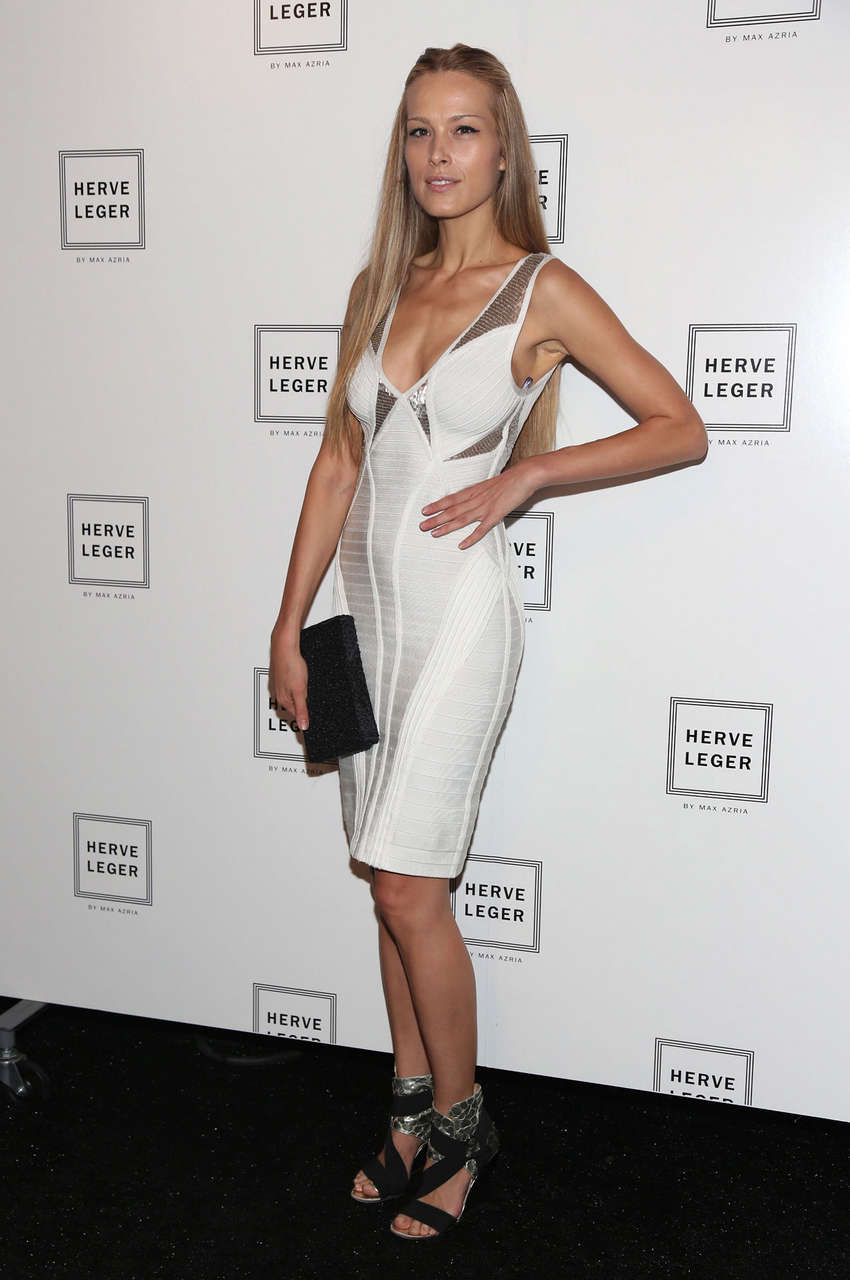Petra Nemcova Herve Leger Fashion Show New York