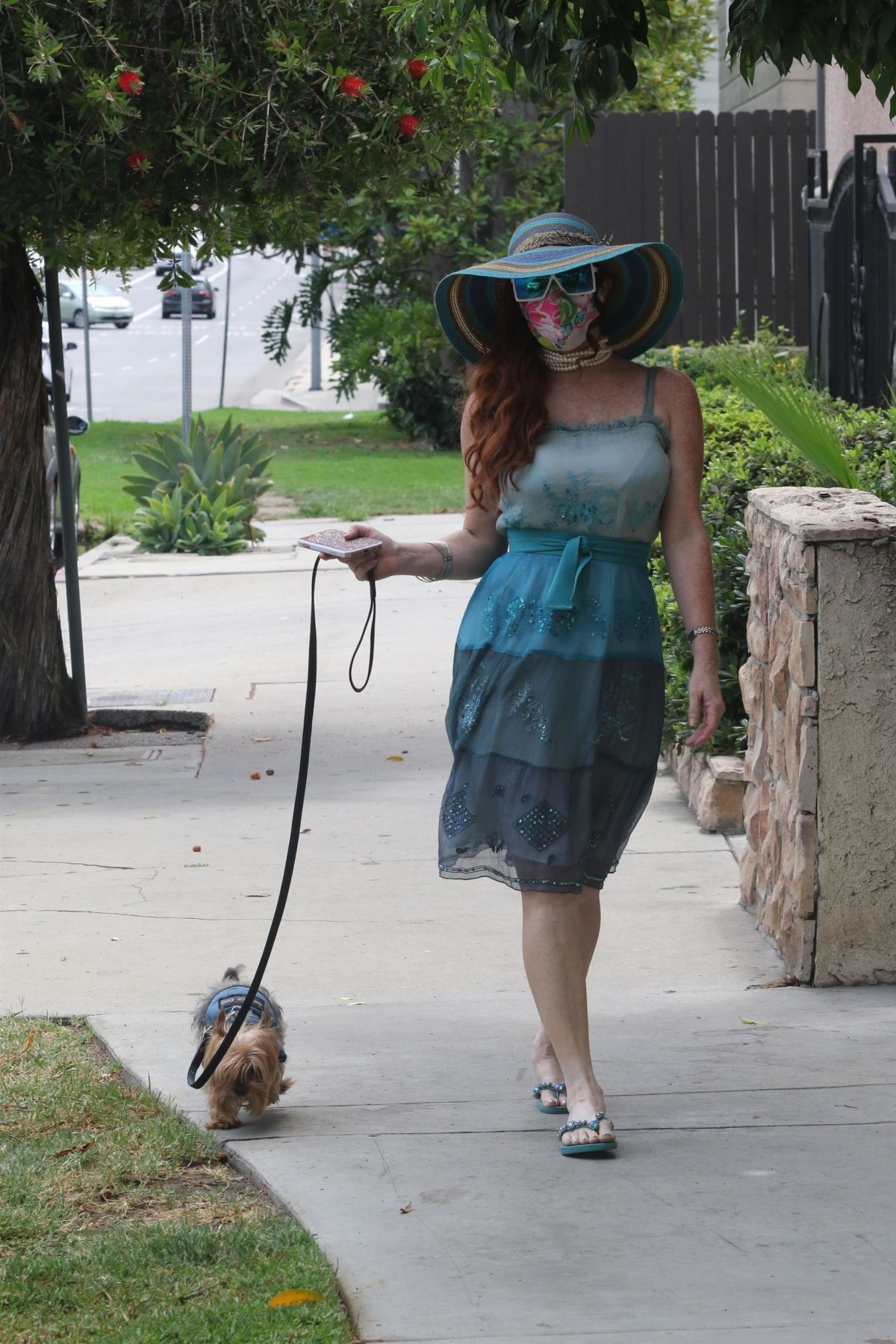 Phoebe Price Out With Her Dog Los Angeles