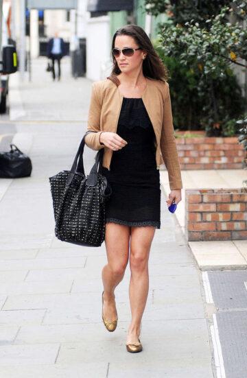 Pippa Middleton Wearing Black Dress