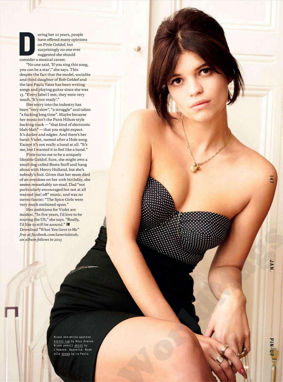 Pixie Geldof Esquire Magazine Uk January 2013 Issue