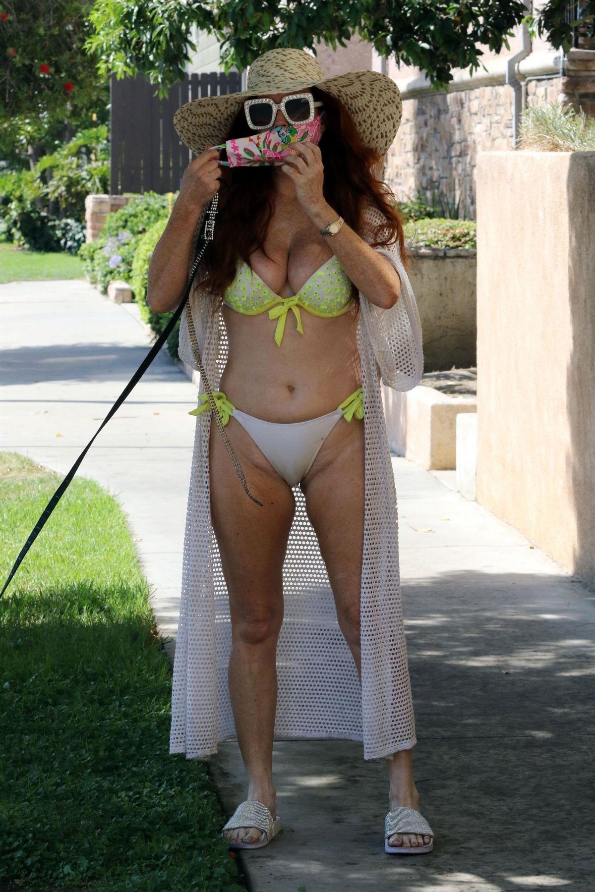 Poebe Price Yellow Bikini Out Los Angeles