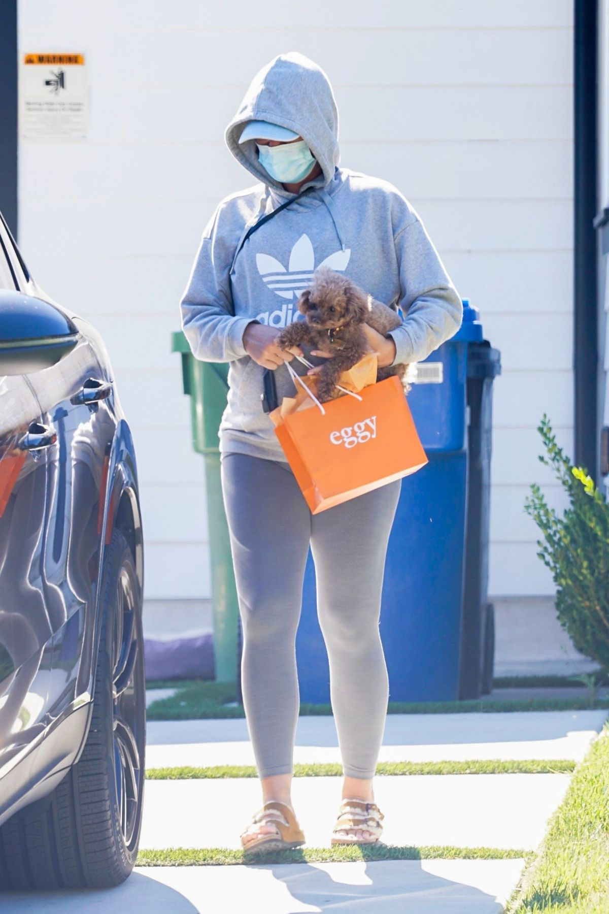 Pregnant Katy Perry Wearing Mask Out Los Angeles