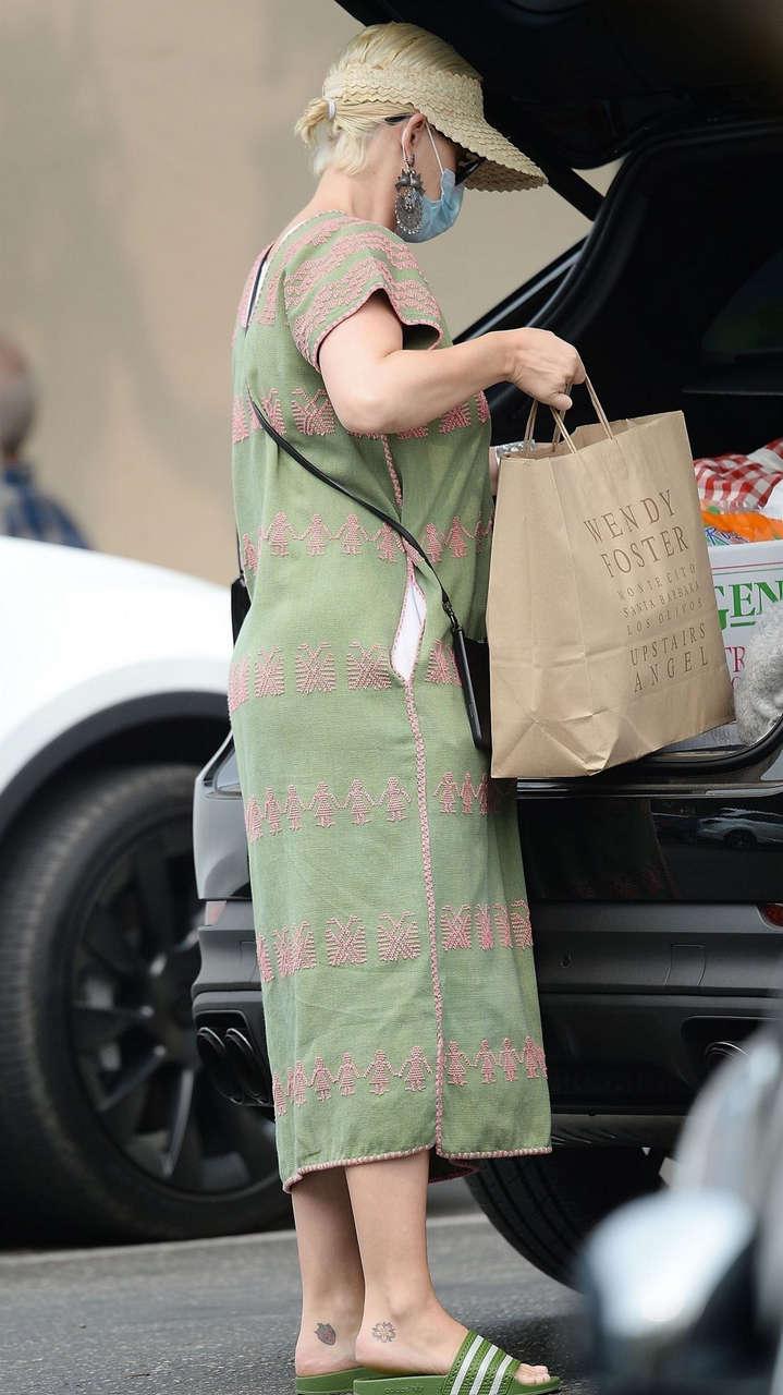 Pregnant Katy Pery Out Shopping Santa Barbara