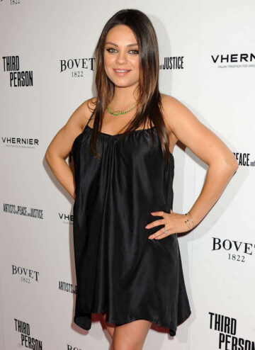 Pregnant Mila Kunis Third Person Premiere Los Angeles