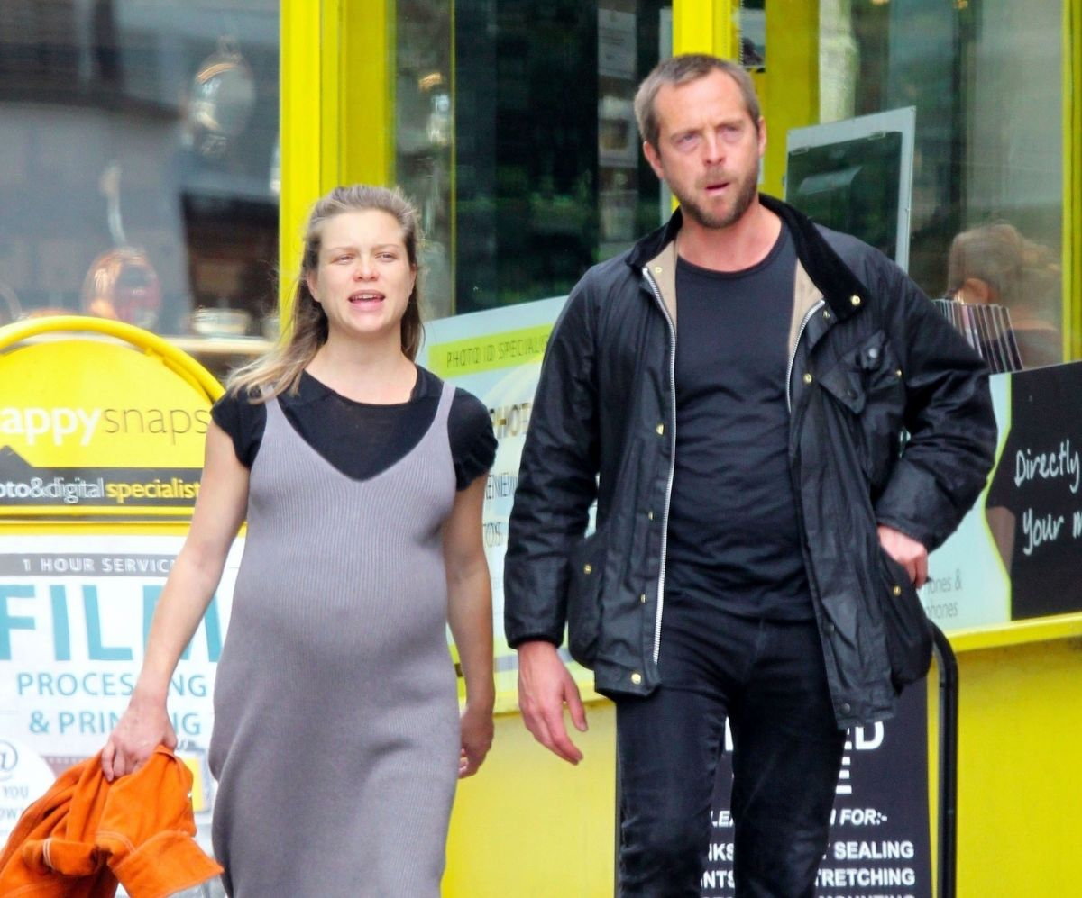 Pregnant Sophie Cookson Stephen Campbell Moore Out London