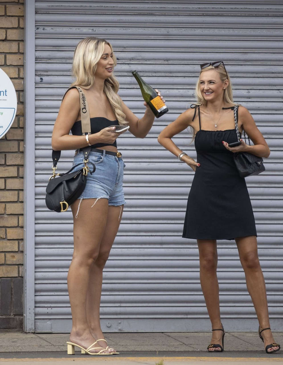Rachel Fenton Denim Shorts Out London