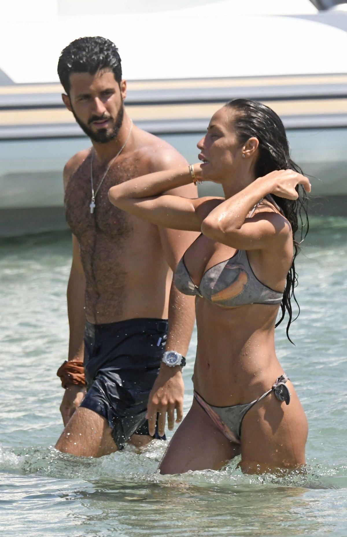 Raffaella Fico Bikini Beach Greece