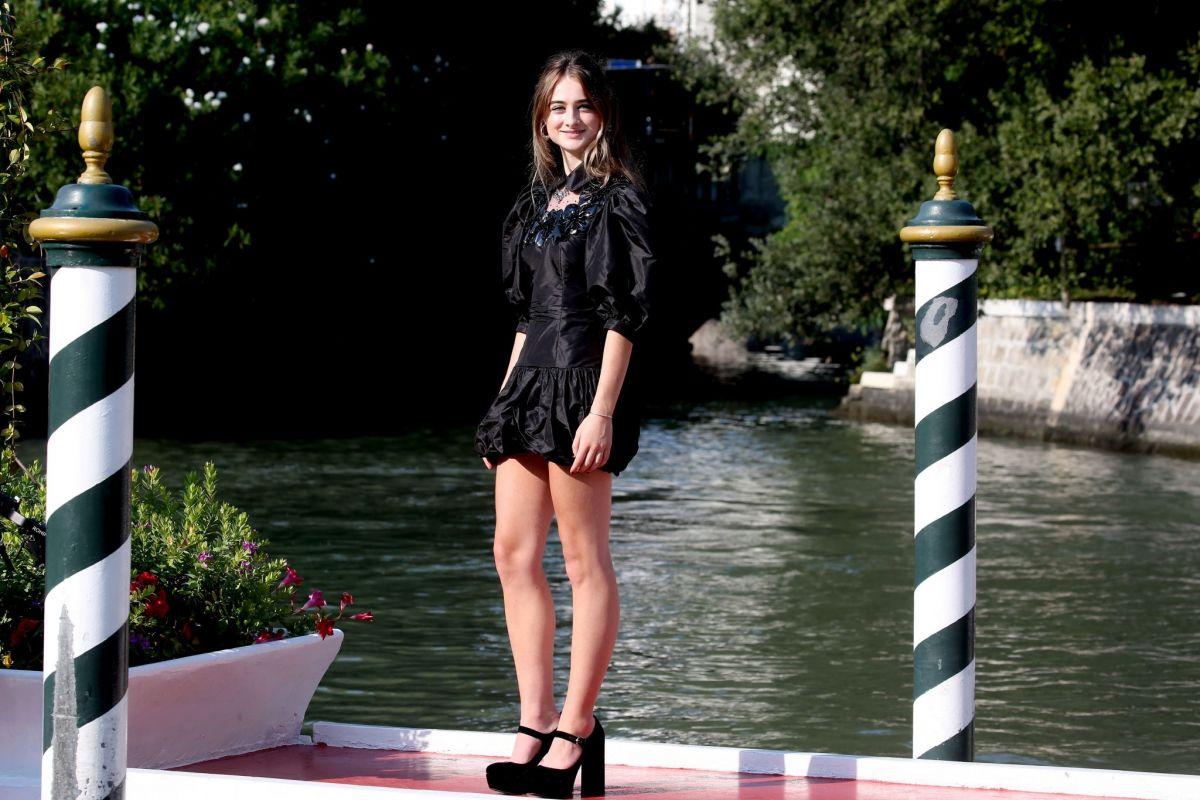 Raffey Cassidy Arrives Hotel Excelsior Venice