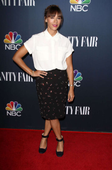 Rashida Jones Nbc Vanity Fair 2014 2015 Tv Season Party West Hollywood