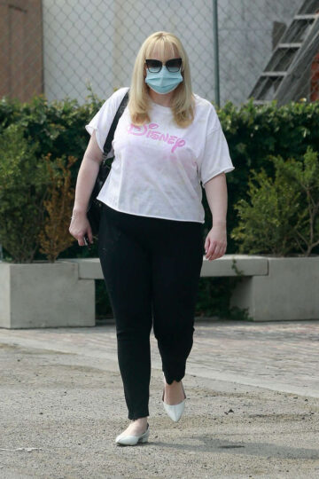 Rebel Wilson Wearing Mask Out West Hollywood