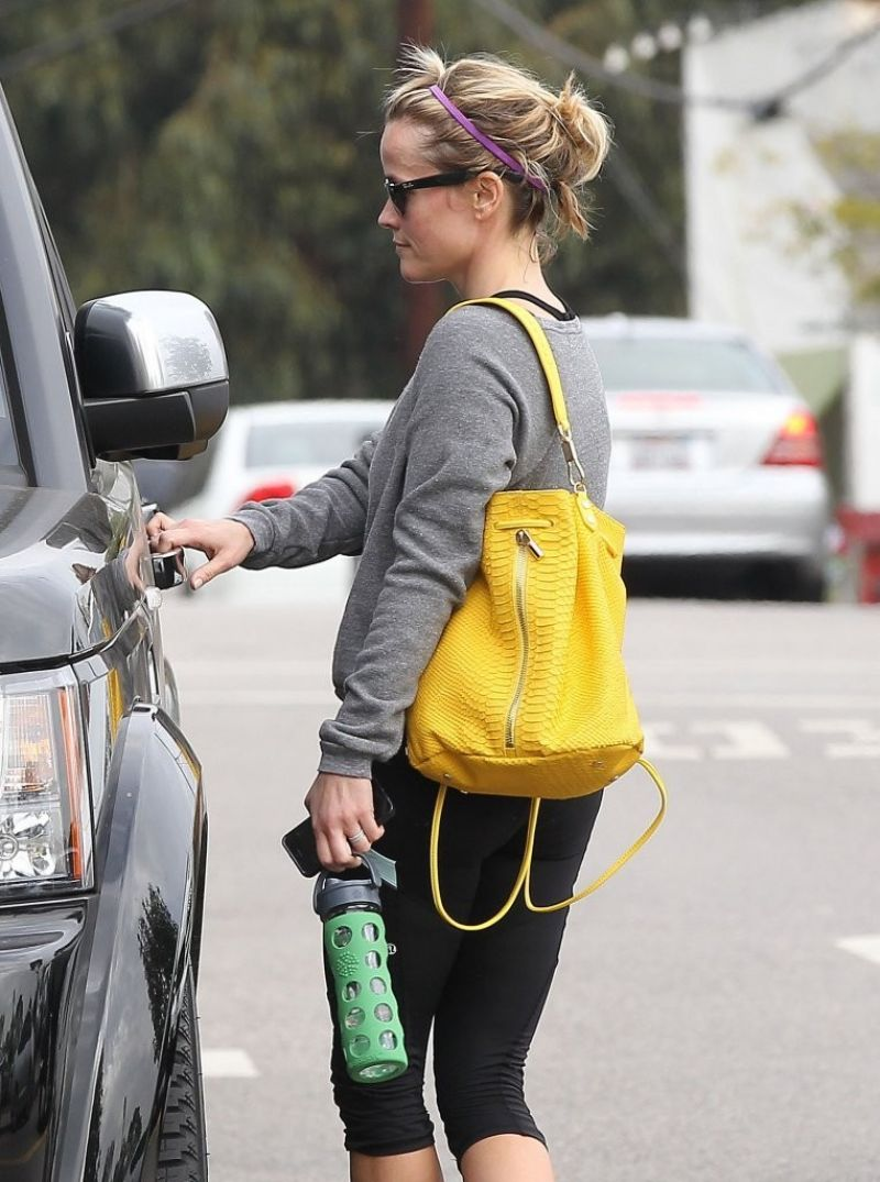 Reese Witherspoon Leaves Gym Brentwood