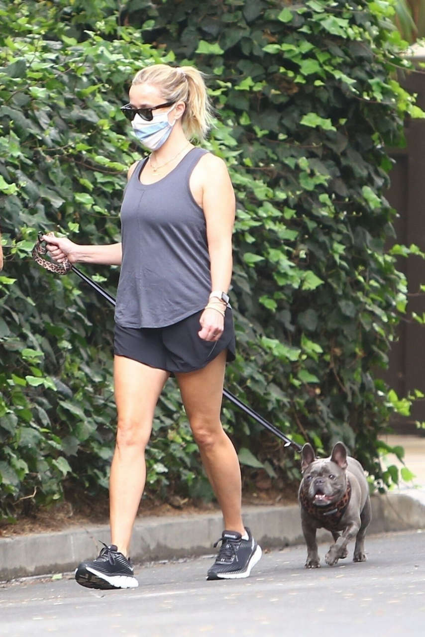 Reese Witherspoon Out With Her Dog Brentwood