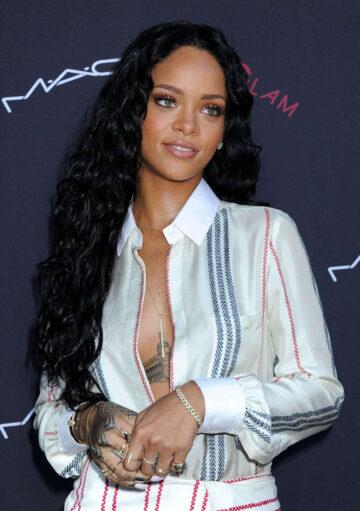 Rihanna 2014 Roc Nation Pre Grammy Brunch Beverly Hills