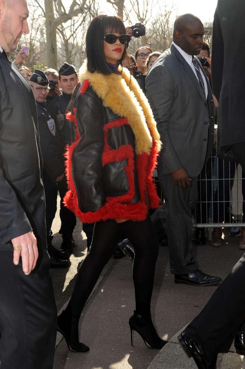Rihanna Arrives Miu Miu Fashion Show Paris