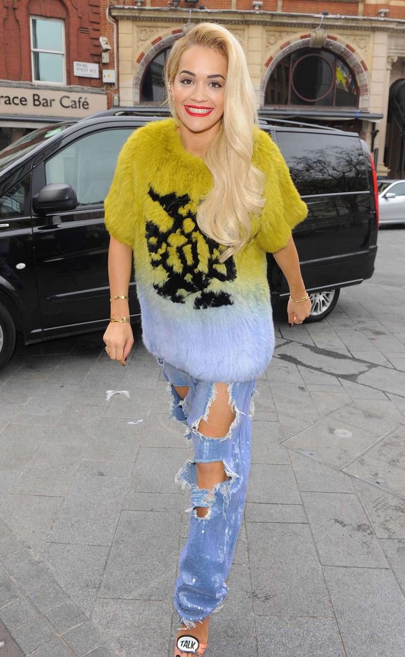 Rita Ora Arrives Capital Radio Studio London