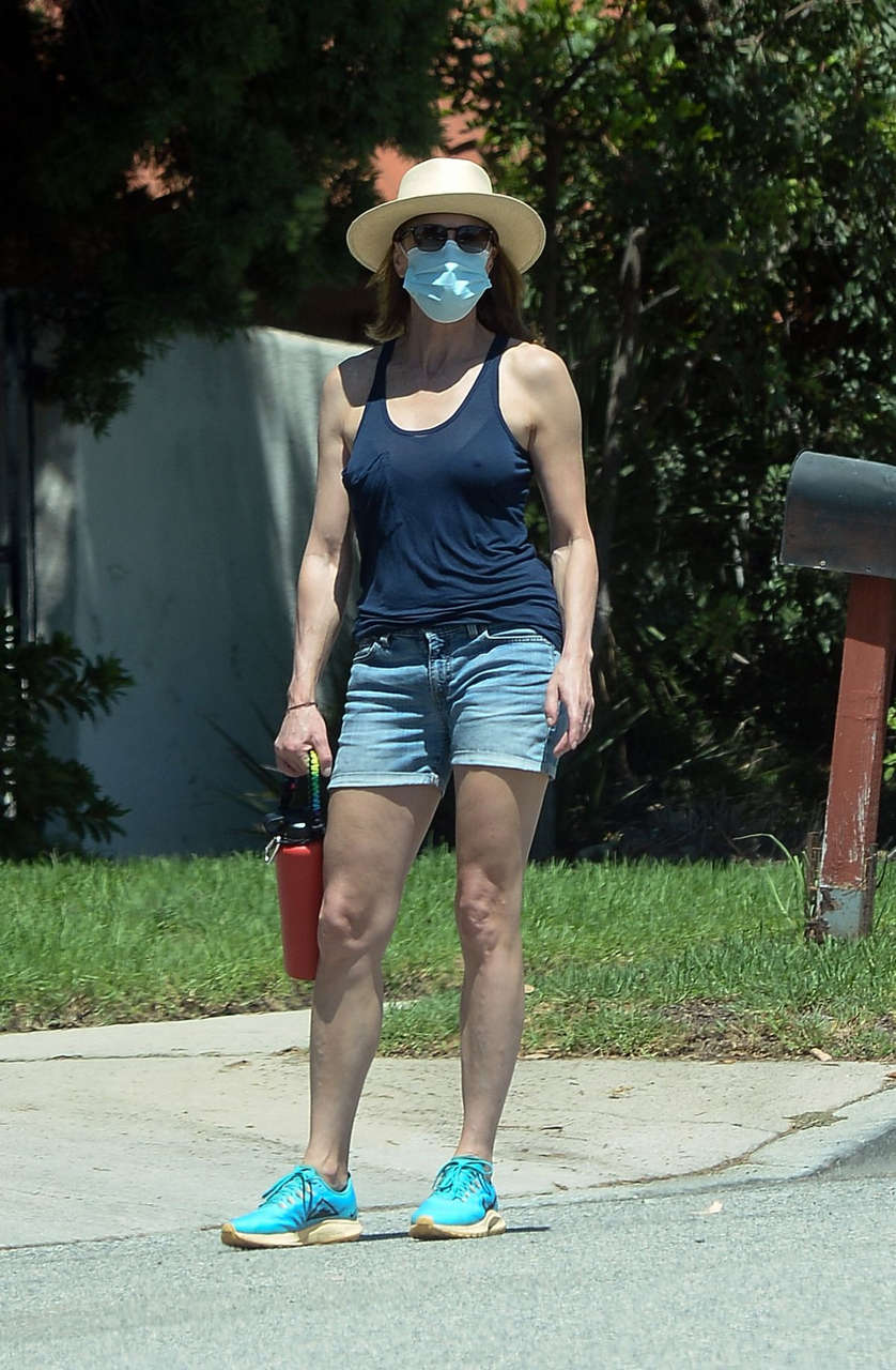 Robin Wright Denim Shorts Out About Los Angeles