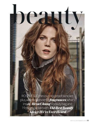 Rose Leslie Instyle Magazine November 2014 Issue