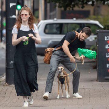 Rose Leslie Kit Harrington Out With Their Dog London
