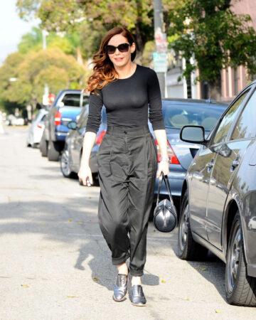 Rose Mcgowan Leaving Byron Tracy Hair Salon Beverly Hills