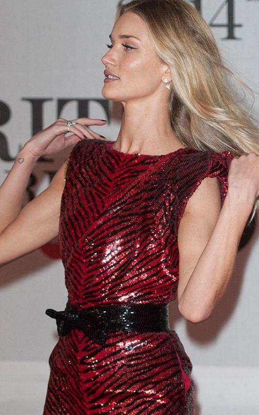 Rosie Huntington Whiteley 2014 Brit Awards London