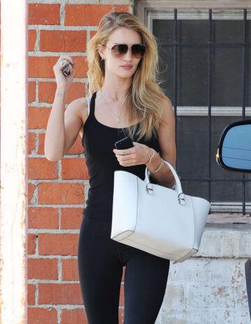 Rosie Huntington Whiteley Tghts Leaves Gym West Hollywood