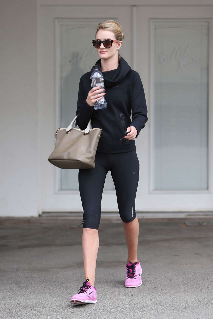 Rossie Huntington Whiteley Leaves Ballet Bodies West Hollywood