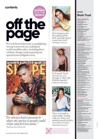 Ruby Rose Shape Magazine September